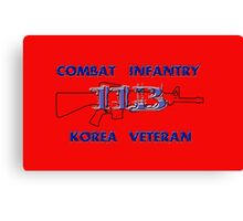 11Bravo - Combat Infantry - Korea Veteran Canvas Print