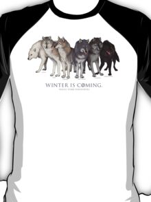 WINTER IS COMING- House Stark Direwolves T-Shirt