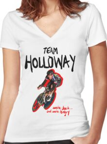 TEAM HOLLOWAY Women's Fitted V-Neck T-Shirt