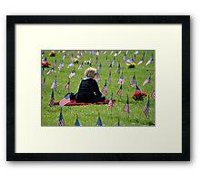 Veterans Memorial Cemetery Framed Print