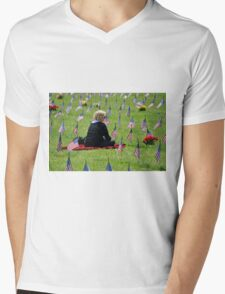 Veterans Memorial Cemetery Mens V-Neck T-Shirt