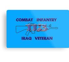 11Bravo - Combat Infantry - Iraq Veteran Metal Print