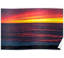 Bayfield sunset Poster