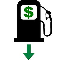 Gas Prices Fall in the United States Photographic Print
