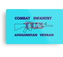 11Bravo - Combat Infantry - Afghanistan Veteran Metal Print