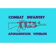 11Bravo - Combat Infantry - Afghanistan Veteran Photographic Print