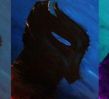 Arkham Knight in Blue by LennonDrake