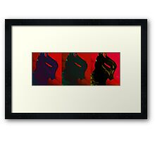 Arkham Knight in Red Framed Print