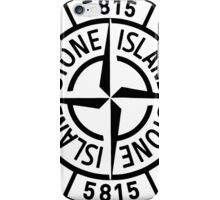 Stone Island Black and White iPhone Case/Skin