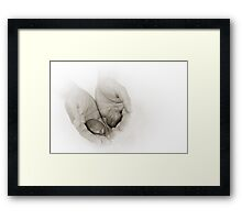 Hands: Wellness Framed Print