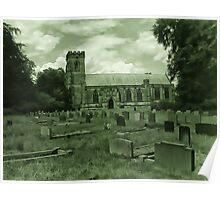 St Mary Church - Sledmere - East Yorks Poster