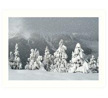Banff snowy christmas Art Print