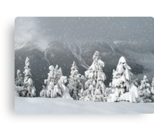 Banff snowy christmas Canvas Print