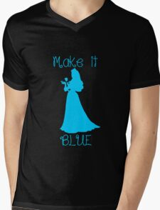 Make it BLUE Mens V-Neck T-Shirt