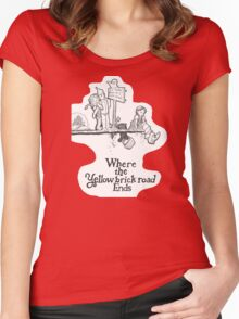 Where The Yellow Brick Road Ends Women's Fitted Scoop T-Shirt