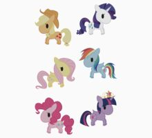 Mane 6 Chibis One Piece - Long Sleeve
