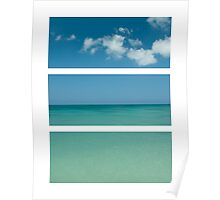 Beach Tryptich Poster