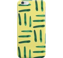 Green hatch on yellow iPhone Case/Skin