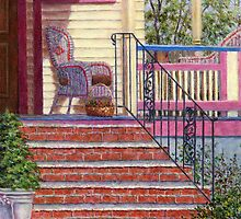 Porch with Basket by Susan Savad