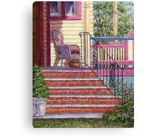 Porch with Basket Canvas Print