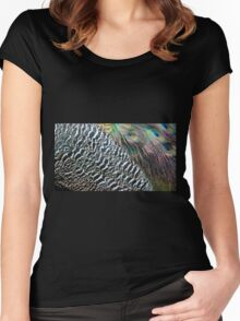 Peacock Feathers Women's Fitted Scoop T-Shirt