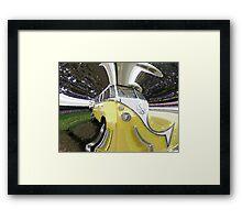 Psychedelic Volkswagen Van Framed Print