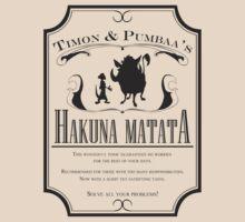 Old Timey Hakuna Matata Ad - Black by Nani &  Ceci
