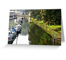 """The  River Dart at Totnes"" Greeting Card"