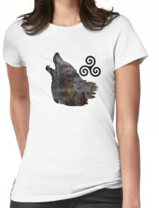 Teen Wolf Howl Womens Fitted T-Shirt