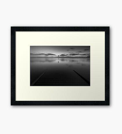 Lytham Jetty Mono Framed Print