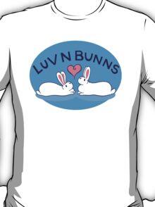 Hippity Hop - Blue Bunny Design T-Shirt