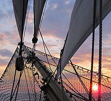Evening Light on the Bowsprit by Lucy Hollis