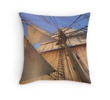 Morning Sails Throw Pillow