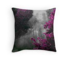 Purple and Smoke Throw Pillow
