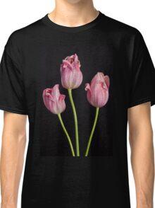 Portrait Of Three Pink Tulips Classic T-Shirt