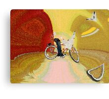 Invisible Beach Cruiser Metal Print