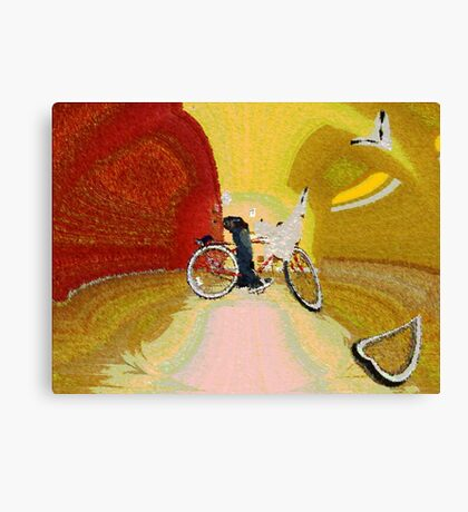 Invisible Beach Cruiser Canvas Print