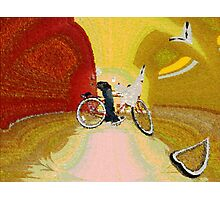 Invisible Beach Cruiser Photographic Print