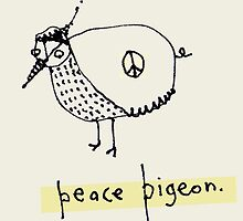 Peace Pigeon::Biro + PS by SamEvans