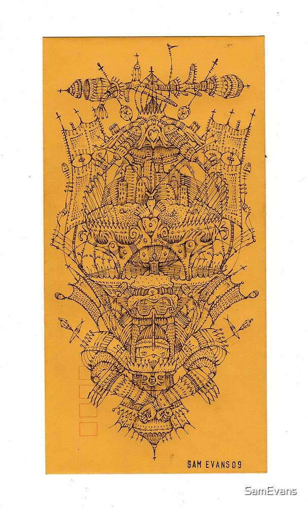 Hands Tied::Biro on Envelope 24 x 12cm by SamEvans