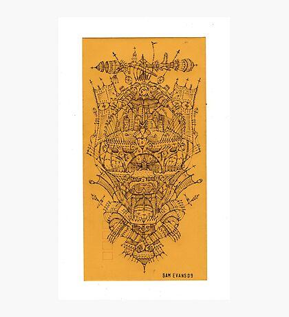 Hands Tied::Biro on Envelope 24 x 12cm Photographic Print