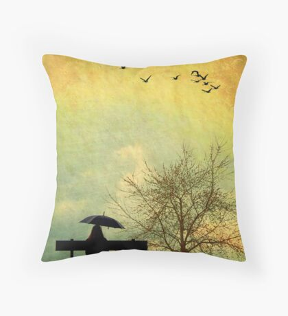 Just Sitting... Throw Pillow