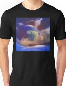 Misty blue- abstract  Art + Products Design  Unisex T-Shirt