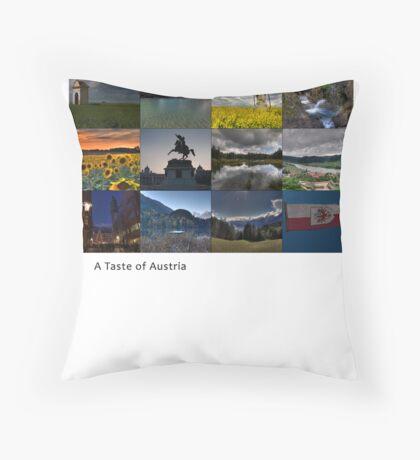 A Taste of Austria Throw Pillow