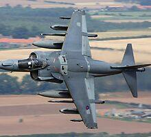 British Aerospace Harrier GR7 by Richard Hanley www.scotland-postcards.com