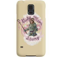 Girly means strong (yellow variant) Samsung Galaxy Case/Skin