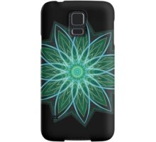 Fractal Flower - Green . Samsung Galaxy Case/Skin