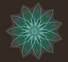 Fractal Flower - Green . T-Shirt