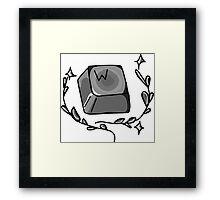 """W key - """"Keep moving forward"""" Framed Print"""