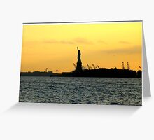 Distant Liberty Greeting Card
